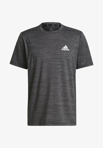 M HT EL TEE - Print T-shirt - black melange