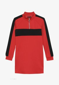 LMTD - NLFLAMIA ZIP DRESS - Jersey dress - poppy red/black - 2