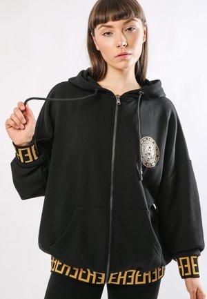 BIG-TOUR ZIP HOODY OVERSIZED HOODY - Zip-up hoodie - black