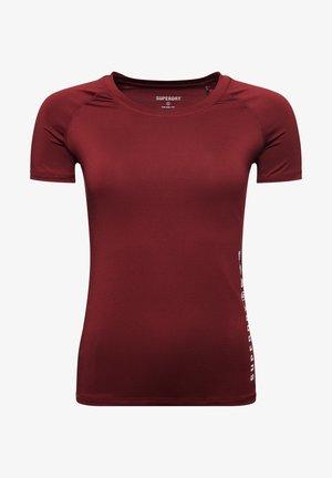TRAINING ESSENTIAL - Camiseta básica - claret