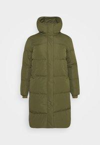 LONG PADDED DUVET COAT - Manteau classique - khaki