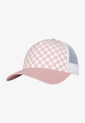 CHECKERBOARD RETRO TRUCKER - Cap - lightrose/white