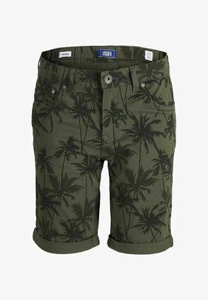RICK ORIGINAL - Denim shorts - olive night
