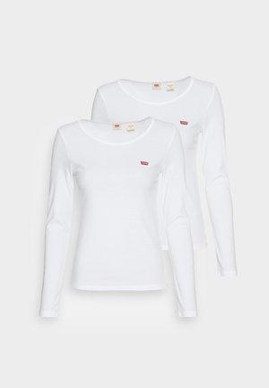 TEE 2 PACK - Top sdlouhým rukávem - white/white