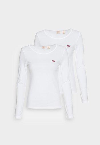 TEE 2 PACK - Maglietta a manica lunga - white/white