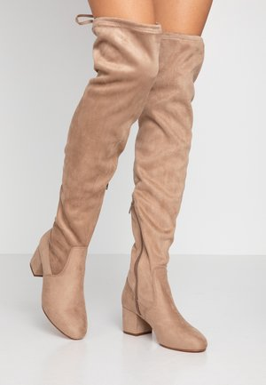 Over-the-knee boots - sand