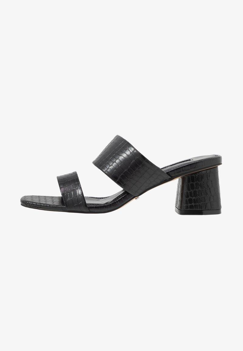 Topshop - DINA BLOCK MULE - Mules à talons - black