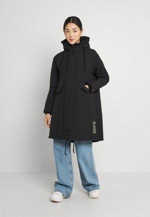 HOODED FISHTAIL - Winter coat - black