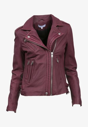 Leather jacket - bur04 wine