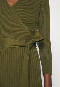 Dorothy Perkins - WRAP DRESS - Jumper dress - khaki - 5