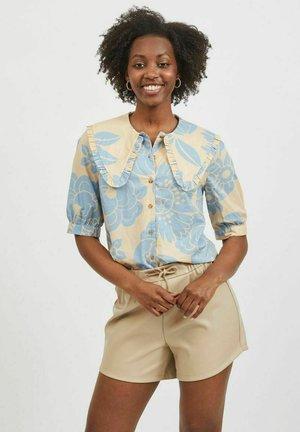 Button-down blouse - mellow yellow