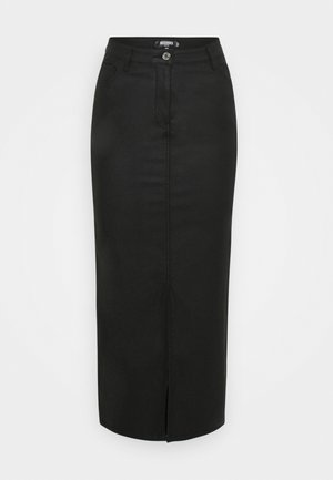 FRONT SPLIT MIDI SKIRT - Pencil skirt - black
