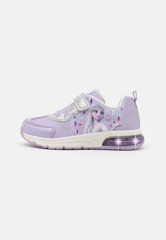 Disney Frozen Elsa Anna GEOX JUNIOR SPACECLUB GIRL - Sneakers basse - lilac/silver