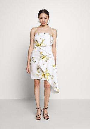 BANDEAU MINI DRESS WITH PEPLUM PETITE - Cocktail dress / Party dress - ivory