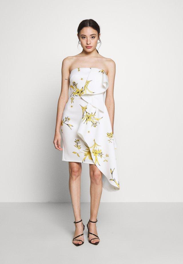 BANDEAU MINI DRESS WITH PEPLUM PETITE - Vestito elegante - ivory