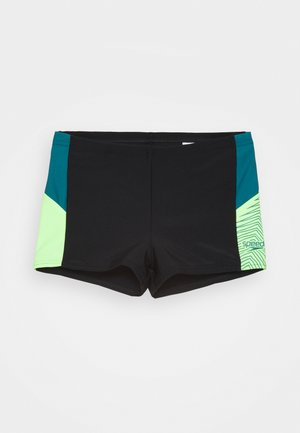 DIVE - Plavky - black/swell green/zest green
