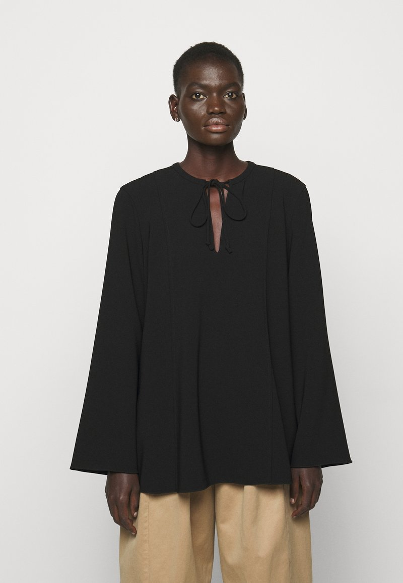 Theory - FLUID BLOUSE ADMIRAL - Blouse - black