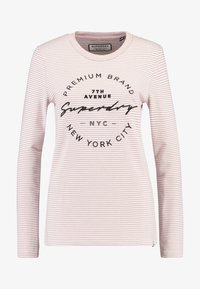 Superdry - DUNNE STRIPE GRAPHIC - Long sleeved top - pink - 3