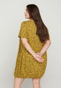 Zizzi - Day dress - yellow ditsy flower - 2