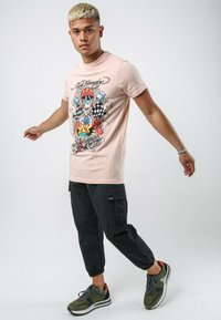 Ed Hardy - SKULL-RACER T-SHIRT - Print T-shirt - dusty pink - 1