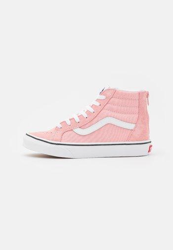 SK8 ZIP - Korkeavartiset tennarit - powder pink/true white