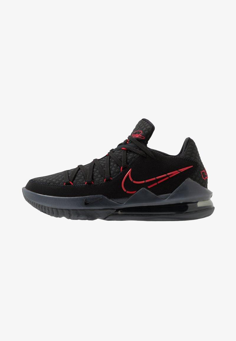 Nike Performance - LEBRON XVII LOW - Koripallokengät - black/university red/dark grey