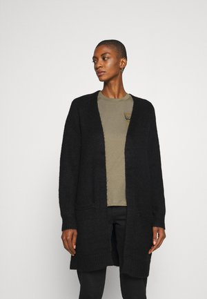 BASIC- SPONGY POCKET CARDIGAN - Gilet - black