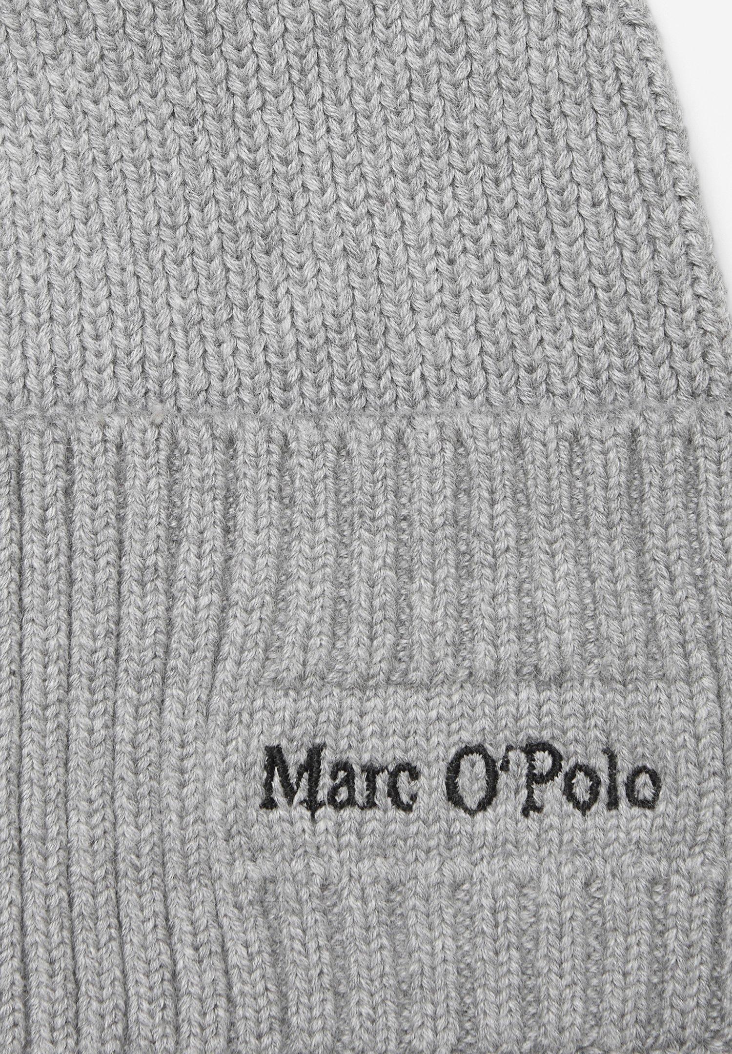 Marc O'polo Strick-mütze Mit Kaschmir-anteil - Mütze Grey Melange/grau