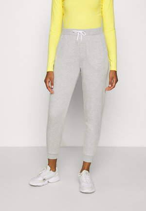 REGULAR FIT JOGGER WITH CONTRAST CORD - Pantaloni sportivi - mottled light grey