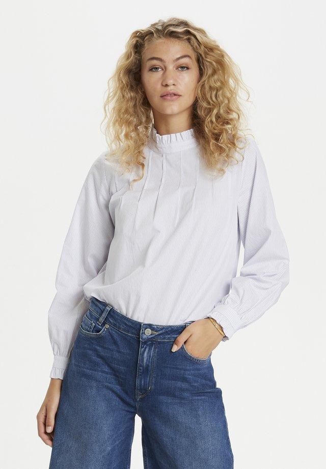 DHANNE  - T-shirt à manches longues - striped light blue