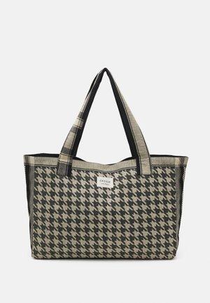 BAG LARGE DOGTOOTH - Shopping bag - black/cream