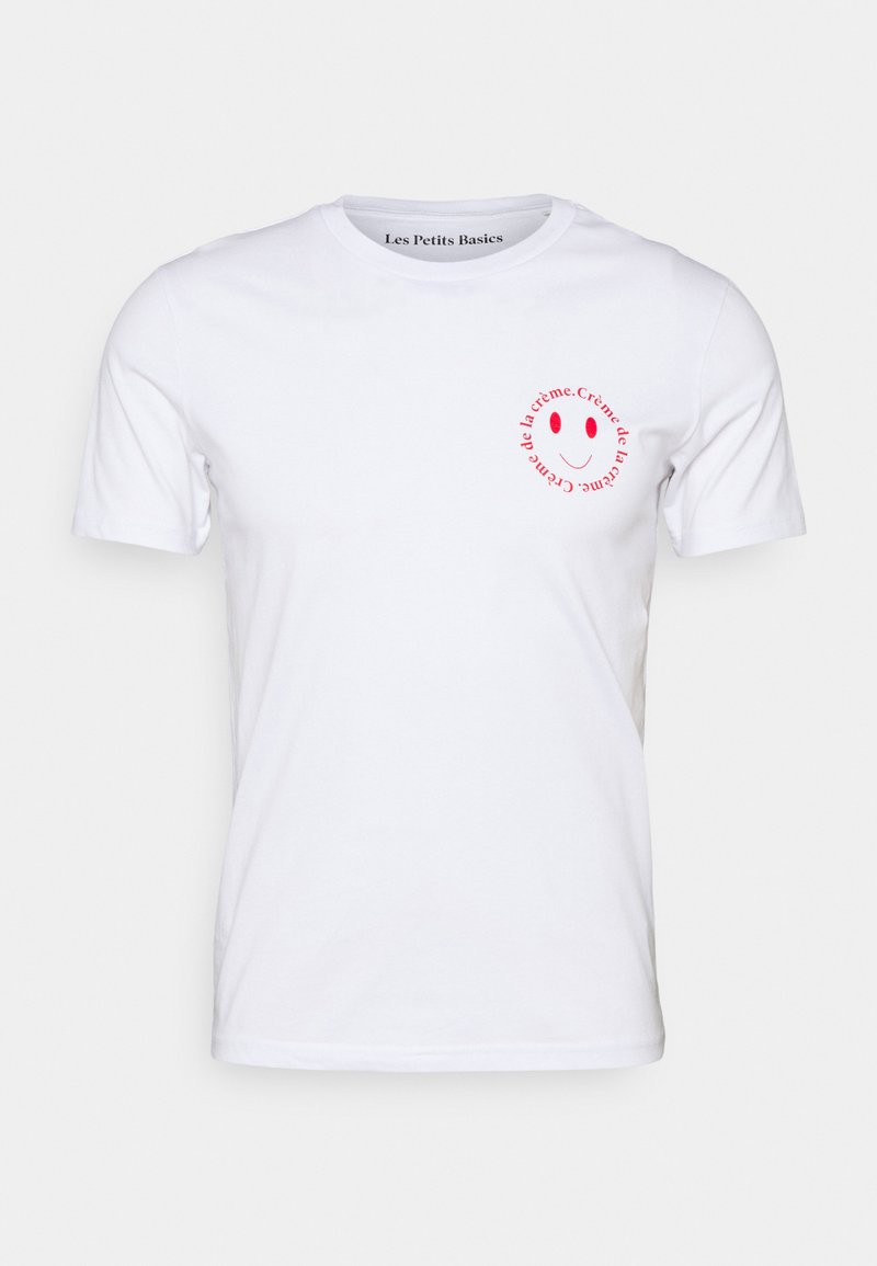 Les Petits Basics - CRÈME DE LA CRÈME UNISEX - Print T-shirt - white