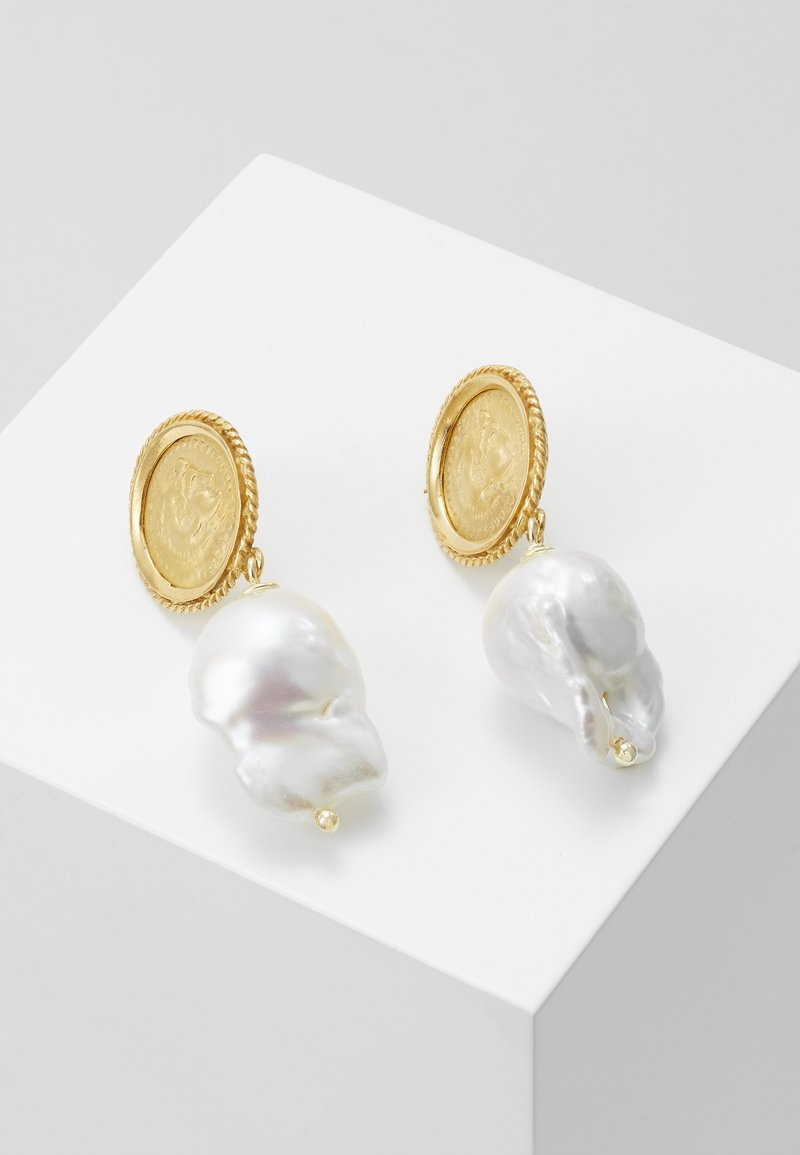 Hermina Athens - HERCULES LOST SEA PIN EARRINGS - Earrings - gold