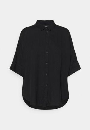 Button-down blouse - black dark