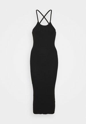 CROSS FRONT MIDAXI DRESS - Jersey dress - black