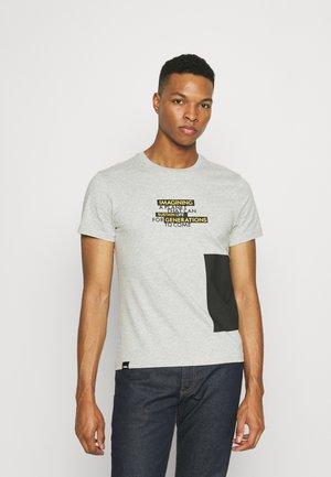 CREW NECK - T-shirt print - light grey melange