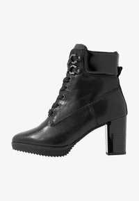 Anna Field Select - LEATHER PLATFORM ANKLE BOOTS - Platform ankle boots - black - 1