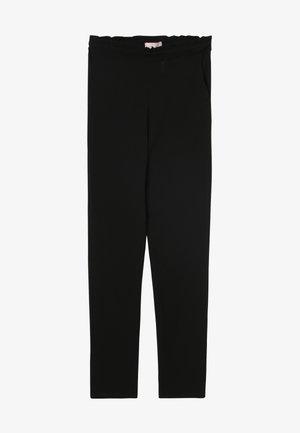KONCOCO PAPERBAG PANT - Trousers - black