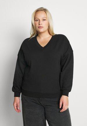 VMRIVER V-NECK  CURVE - Sweatshirt - black