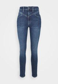 Calvin Klein - HIGH RISE - Jeans Skinny Fit - dark blue - 5