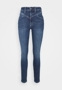 HIGH RISE - Jeans Skinny Fit - dark blue