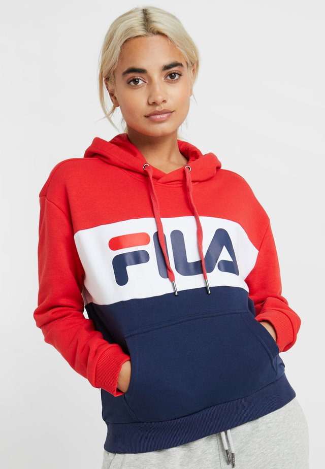 LORI HOODIE  - Sweat à capuche - black iris/true red/bright white