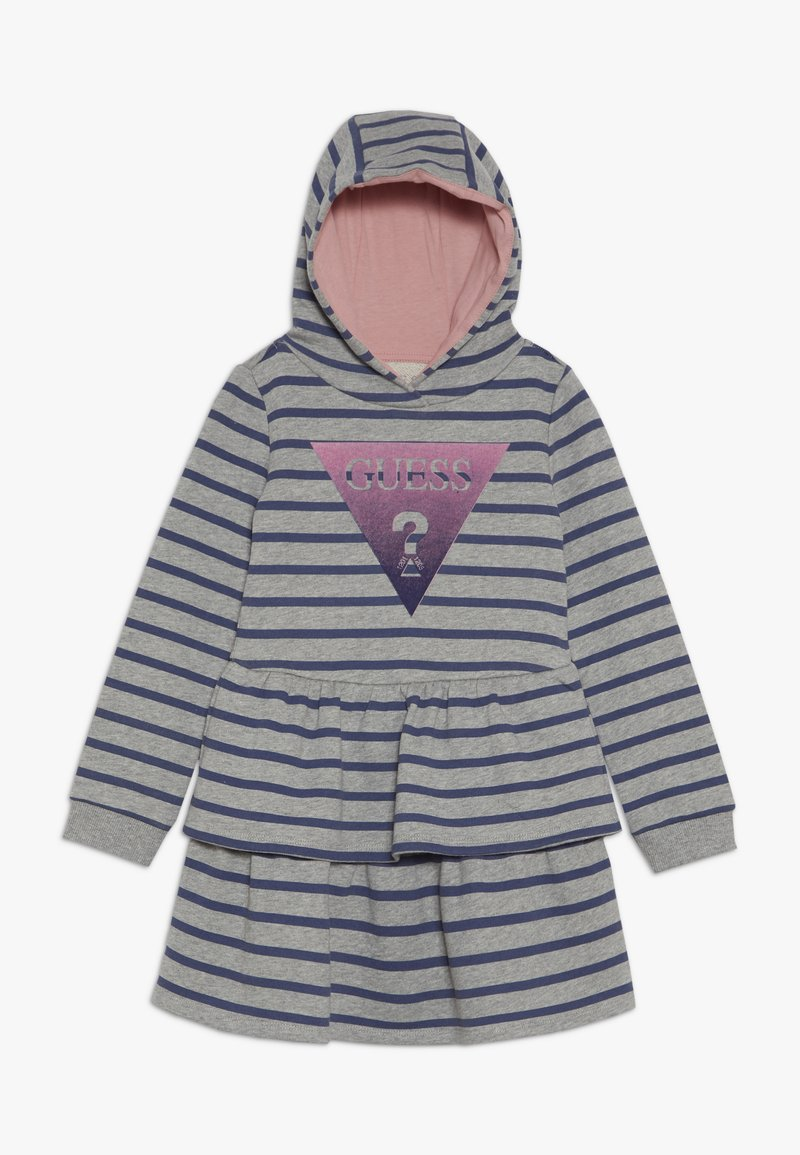 Guess - TODDLER HOODED ACTIVE - Denní šaty - melange grey