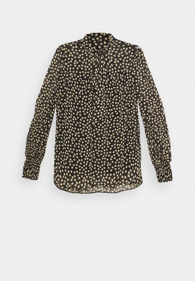 SPOT PRINT LONG SLEEVE TIE NECK - Långärmad tröja - multi coloured