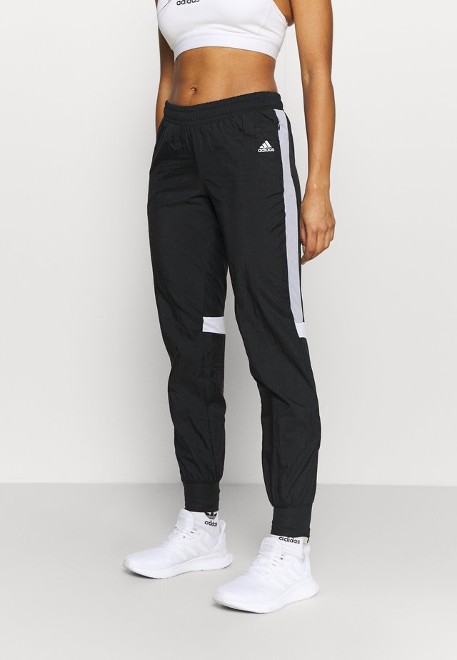TRACK PANT - Verryttelyhousut - black/halo silver/white