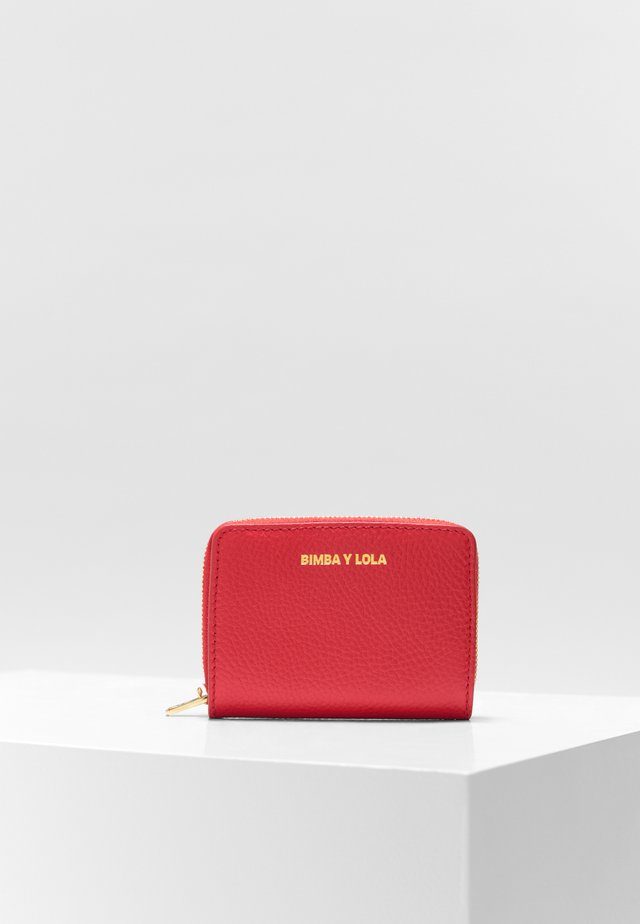 BIMBA Y LOLA SQUARE RED LEATHER PURSE - Portemonnee - red