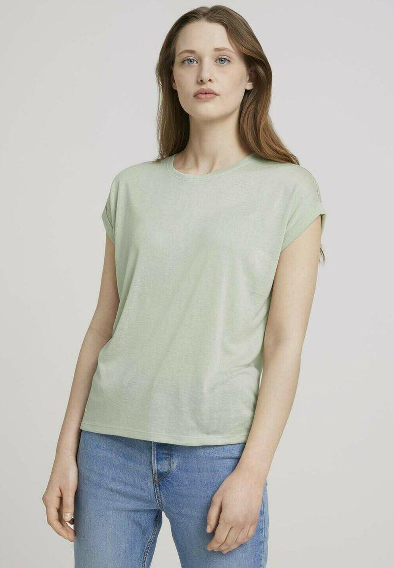TOM TAILOR DENIM - Basic T-shirt - light dusty green