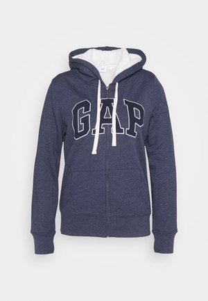 Mikina na zip - navy heather