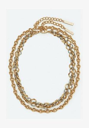 Necklace - metallic grey