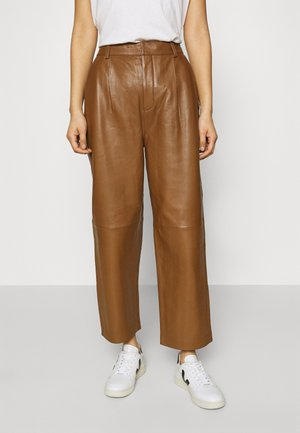 ALIAHGZ CULOTTE - Leather trousers - rubber